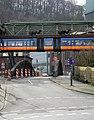 Wuppertal, Brücke Kabelstraße, von N, Schwebebahn nach Vohwinkel.jpg
