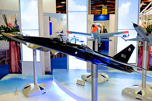 XAT-5 Advanced Trainer Model Display at AIDC Booth 20150815a.jpg