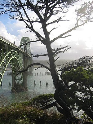 History of Oregon - Engineer Conde McCullough designed many of Oregon's bridges, including the Yaquina Bay Bridge in Newport.