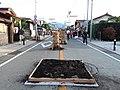 Yoshida Fire Festival to be prepared on the road.JPG