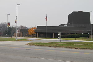 Ypsilanti Township, Michigan - Ypsilanti High School, Packard Road entrance