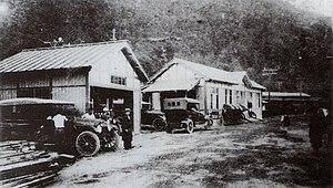 Hakone-Yumoto Station - Hakone-Yumoto Station in 1919