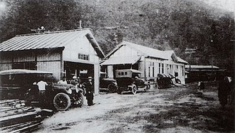 Hakone-Yumoto Station - Hakone-Yumoto Station in 1919