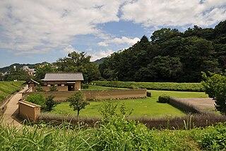 Yuzuki Castle building in Matsuyama, Ehime Prefecture, Japan