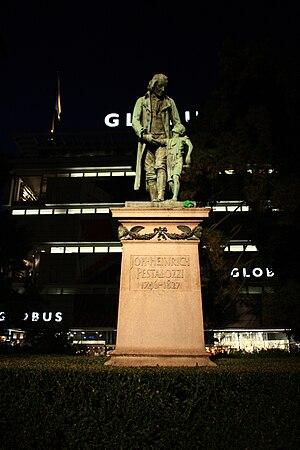 Johann Heinrich Pestalozzi - Memorial at Pestalozziwiese (Bahnhofstrasse) in Zürich, Switzerland