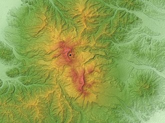 Mount Zaō - Image: Zao Volcano Relief Map, SRTM 1