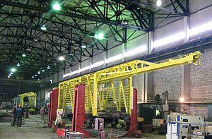 Kambarka Engineering Works - Interior of plant workshop, 2011
