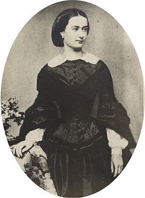 Alfred Escher - Auguste Escher, wife of Alfred Escher, around 1855