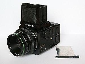 Bronica - Zenza Bronica ETRS camera, with Bronica Zenzanon EII 75mm f2.8 lens