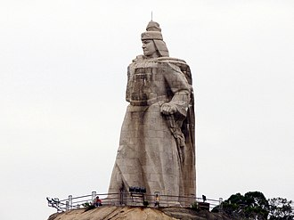 Xiamen - The statue of Koxinga (Zheng Chenggong) on Gulangyu Island.