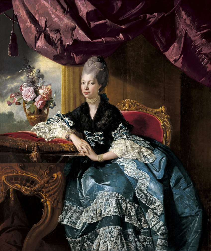 Zoffany - Queen Charlotte, 1771, Royal Collection