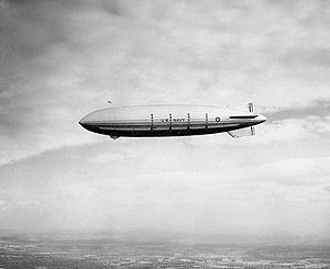 USS Akron (ZRS-4) in flight, 1931.