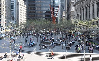 public park and square in New York City