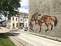 """Never Bow Down"" mural (2014; Vulpes Vulpes), 207 E. 23rd Street, Baltimore, MD 21218 (47055920604).jpg"