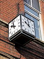 """The Cube Clock"" Victoria Buildings , Claycross.jpg"