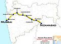 (Mumbai LTT - Nizamabad) Express Route map.jpg