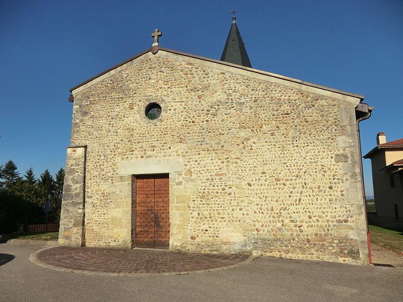 Église Sainte-Eulalie de Saint-Éloi (Ain).