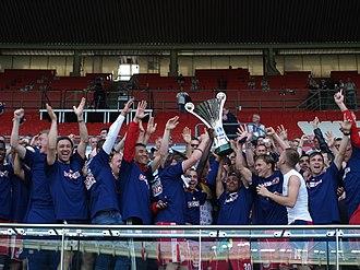 2011–12 Austrian Cup - Red Bull Salzburg celebrating