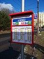 Ústí nad Labem, V Rokli, jízdní řády.jpg