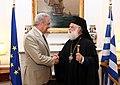 Συνάντηση ΥΠΕΞ Δ. Αβραμόπουλου με τον Πατριάρχη Αλεξανδρείας Θεόδωρο Β΄ (7542453182).jpg