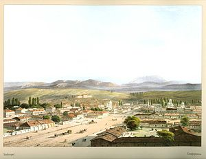 Simferopol - The city in 1856, by Carlo Bossoli.