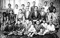 Коллектив учителей и учеников Средней школы Красной Слободы довоенных лет. Возможно фото 1932 -1938-ых годов, гор. Куба.jpg