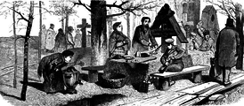 Поминки на Радоницу. XIX век