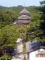 南朝妙法殿(金輪王寺・吉野朝皇居跡) Nanchō-myōhōden, the site of Kinrin-nōji 2011.6.28 - panoramio.jpg
