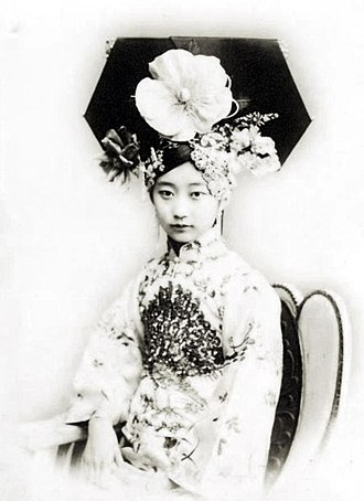 Manchu people - A female noble lady, 1900s