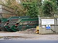 -2021-01-06 Skips at the entrance to CBC scap metal merchants, Spa Common, North Walsham.jpg