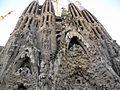 064 Sagrada Família, façana del Naixement, portes de l'Esperança i la Caritat.jpg