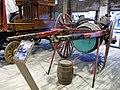 071 Fabra i Coats (Barcelona), Can Fontanet, carruatges dels Tres Tombs, carro amb bocoi.jpg