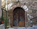 089 Can Cavaller (Monistrol de Montserrat), façana est, c. Sant Joan, portal.JPG