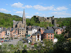 La Roche: the town centre below its medieval castle