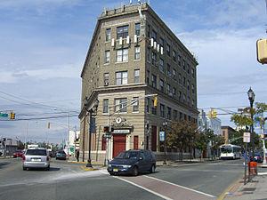Transfer Station (Hudson County) - Building at site of former streetcar interchange at Transfer Station.