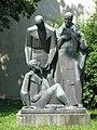 1160 Montleartstraße 37 - Wilhelminenspital - Skulptur Der Dürstende bekommt Wasser von O. Cicatka 1971 IMG 2831.jpg