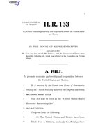 116th United States Congress H. R. 0000133 (1st session) - United States-Mexico Economic Partnership Act A - Introduced in House.pdf