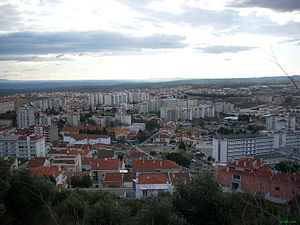 Castelo Branco, Portugal - A view of the city.