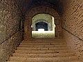 161 Abadia de Santa Maria, escales cap al primer pis.jpg