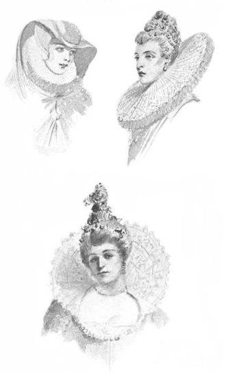 Ruff (clothing) - Image: 16th century ladies ruffled collars (ruffs)