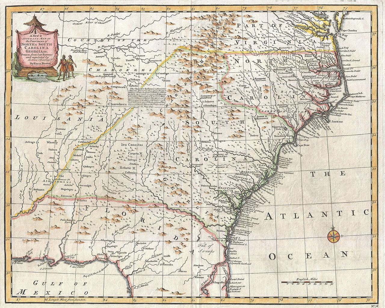 File Bowen Map Of The Southeastern United States Carolina - Is florida part of the united states