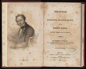 Mordecai Manuel Noah - Noah's book Travels in England, France, Spain, and the Barbary States, in the Years 1813-14 and 15