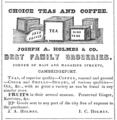 1848 Holmes groceries Magazine Street advert Cambridge Directory Massachusetts US.png
