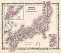 1862 Johnson Map of Japan - Geographicus - Japan-johnson-1862.jpg