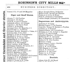 1866 photographers New Orleans city directory.png