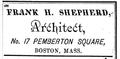 1876 Frank Shepherd Architect BostonAlmanac.png