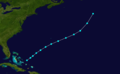 1891 Atlantic tropical storm 10 track.png