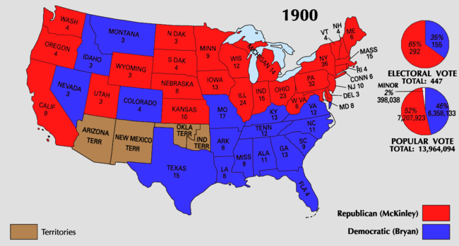 Map Of America 1900.1900 United States Presidential Election Wikipedia