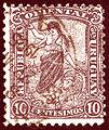 1905 Uruguay 10C Bergère Mi161.jpg