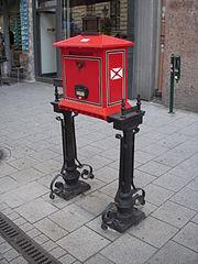 A Budapest mailbox
